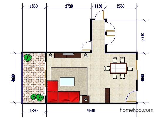 平面布置图柏俪兹系列客餐厅G0398