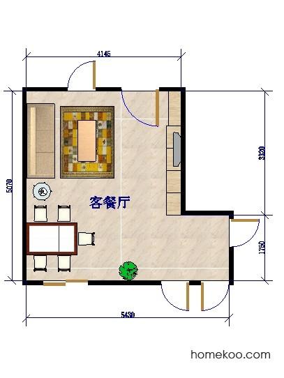 平面布置图贝斯特系列客餐厅G0201