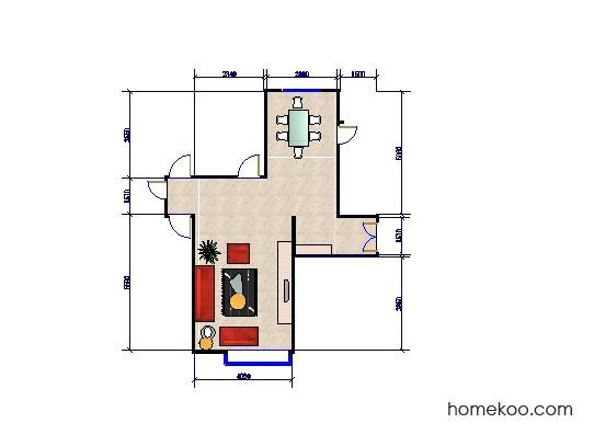 平面布置图贝斯特系列客餐厅G0229