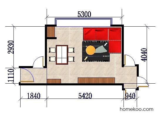 平面布置图乐维斯系列客餐厅G0273
