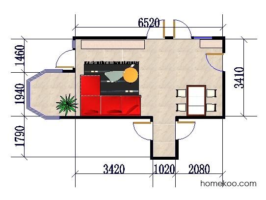 平面布置图格瑞丝系列客餐厅G0315