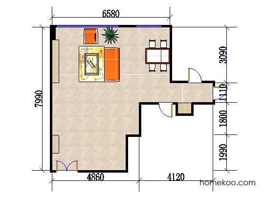 平面布置图斯玛特系列客餐厅G0361