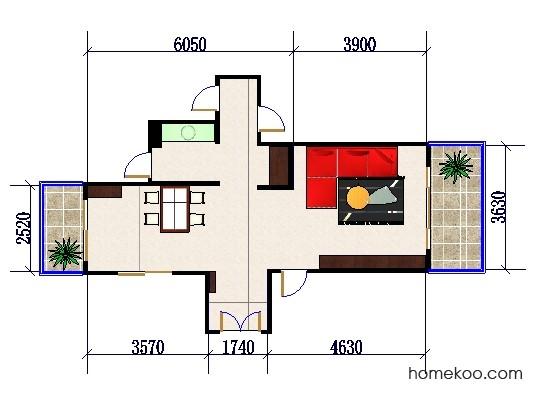 平面布置图德丽卡系列客餐厅G0367