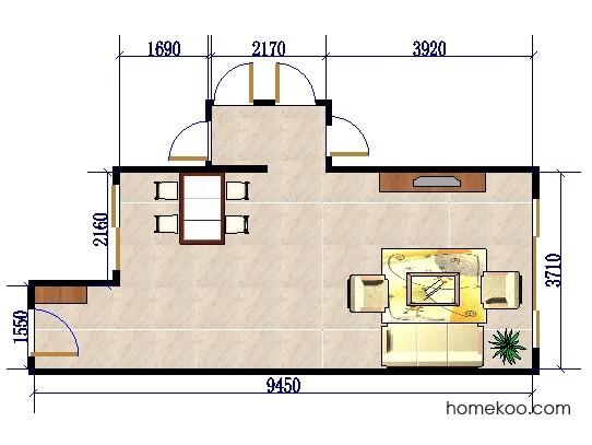 平面布置图格瑞丝系列客餐厅G0397