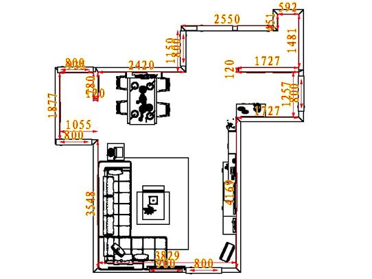 平面布置图格瑞丝系列客餐厅G0563