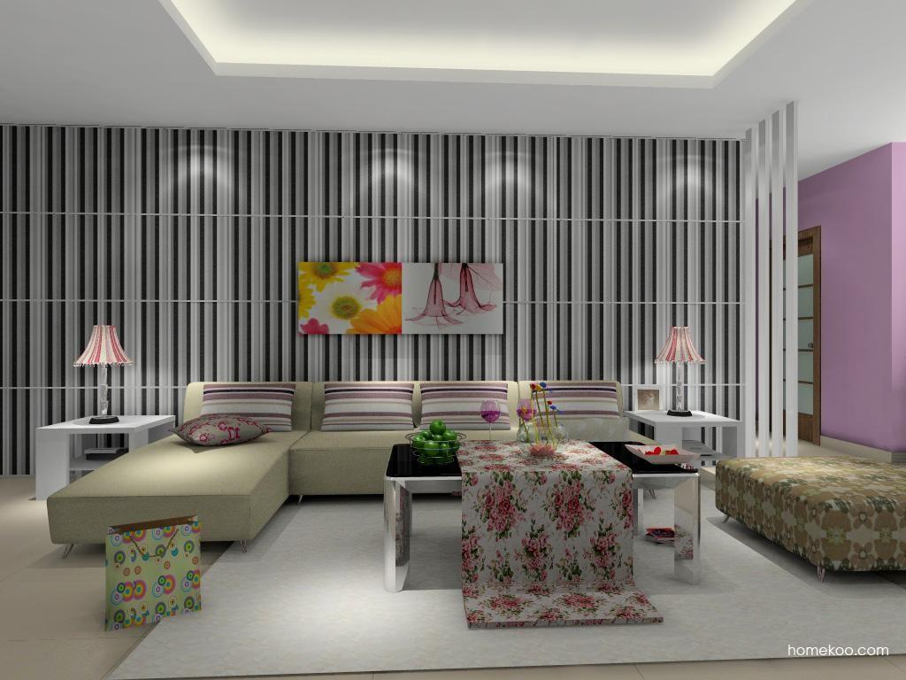 浪漫主义客厅家具D0381