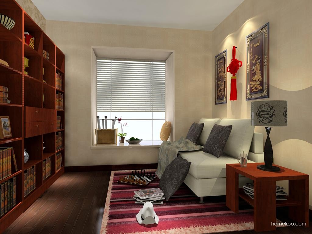 新中式主义书房家具C3378