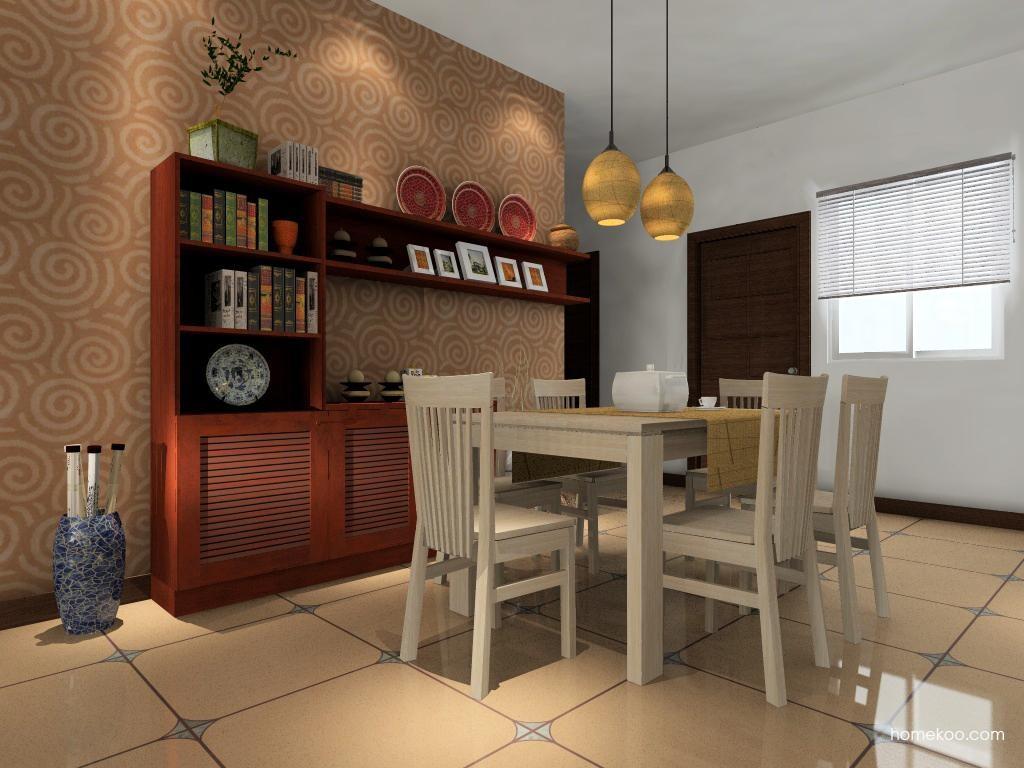 新中式主义餐厅家具E0667