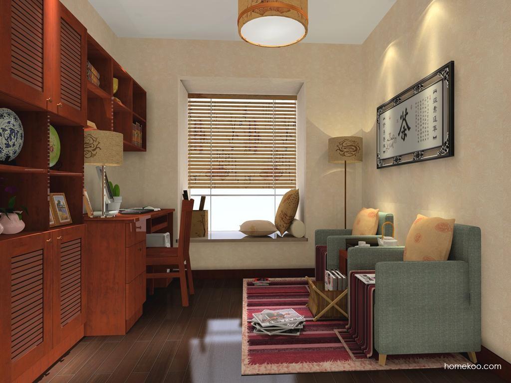 新中式主义书房家具C3466