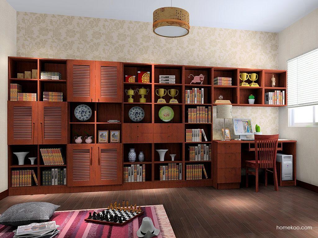 新中式主义书房家具C3526