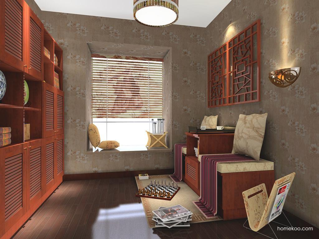 新中式主义书房家具C3539
