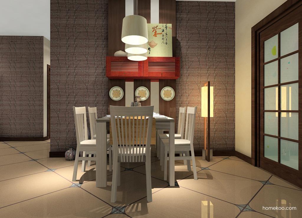 新中式主义餐厅家具E0814