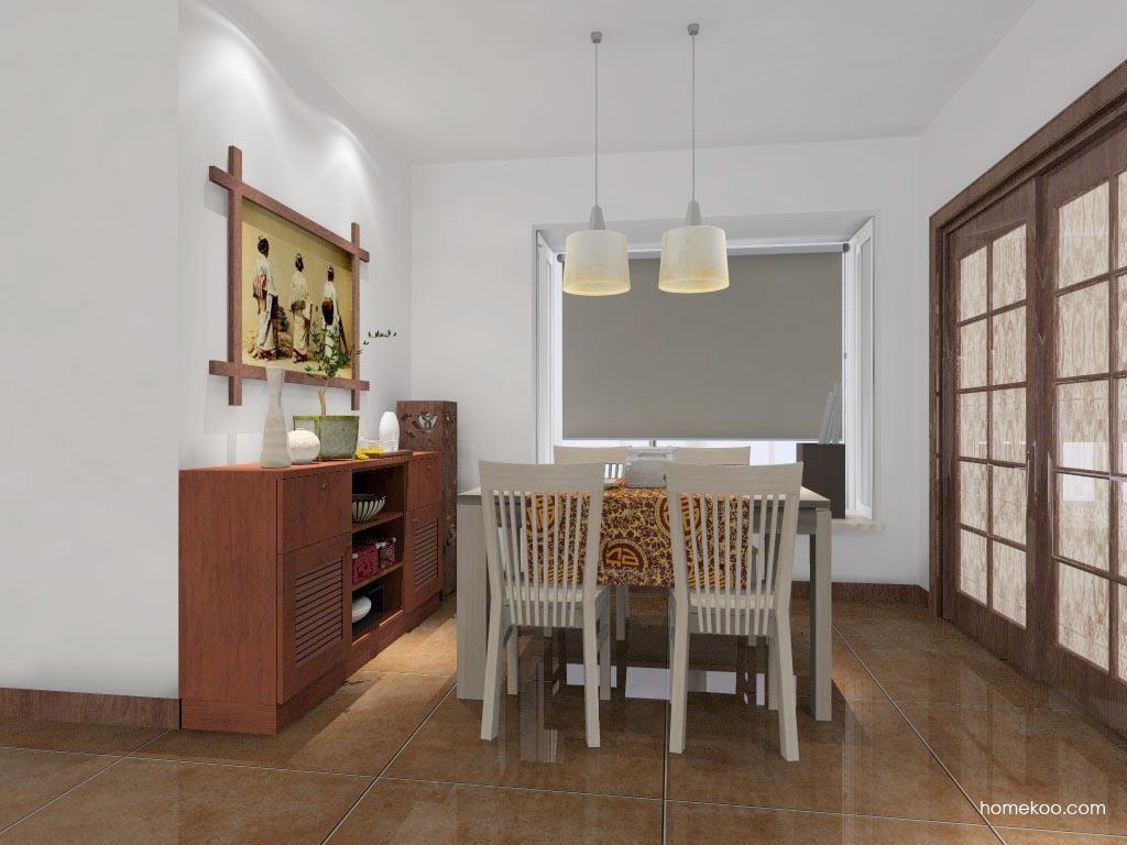 新中式主义餐厅家具E0921
