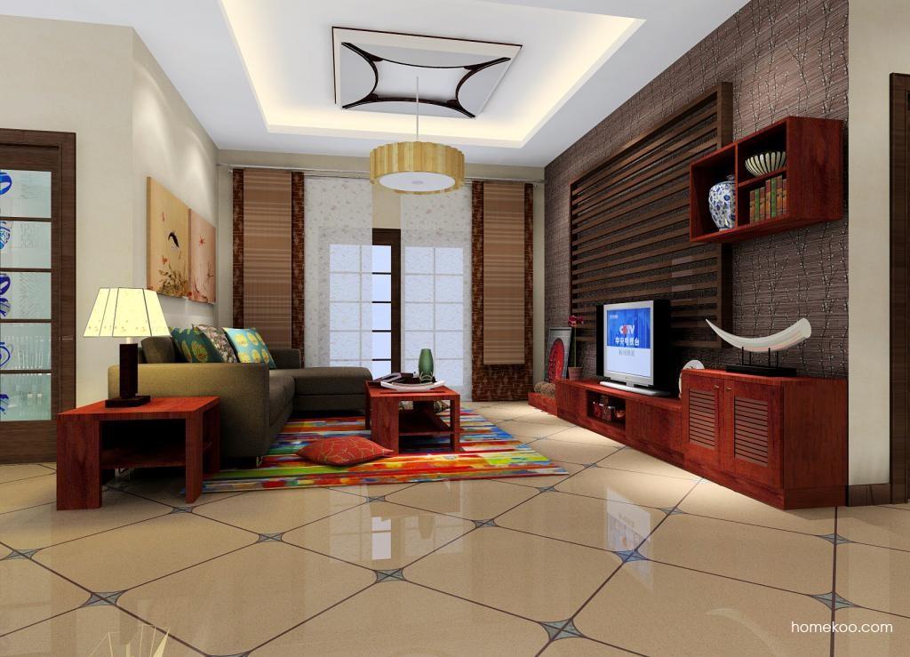 新中式主义客厅家具D0829