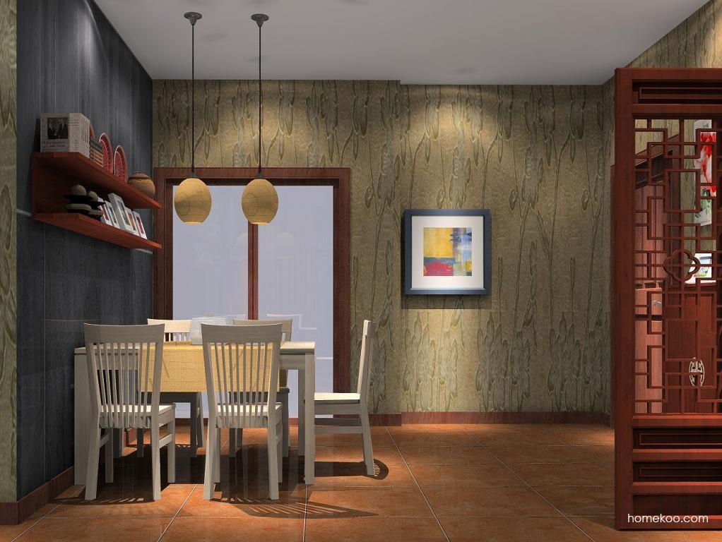 新中式主义餐厅家具E1074