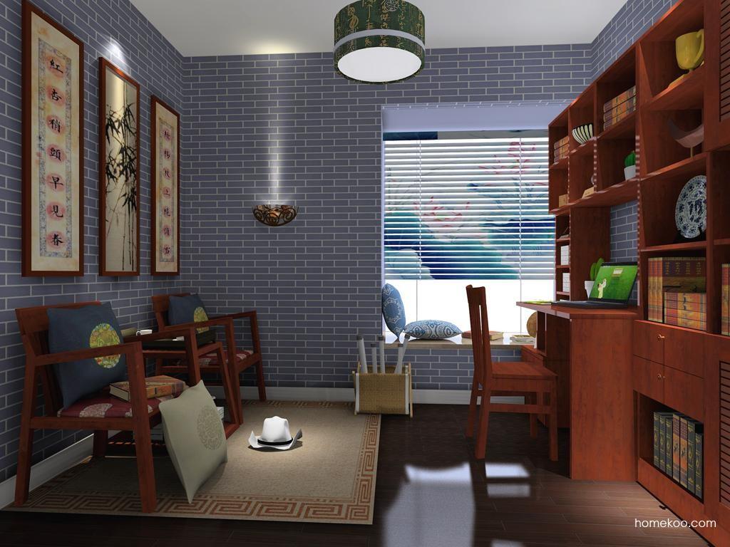 新中式主义书房家具C3748