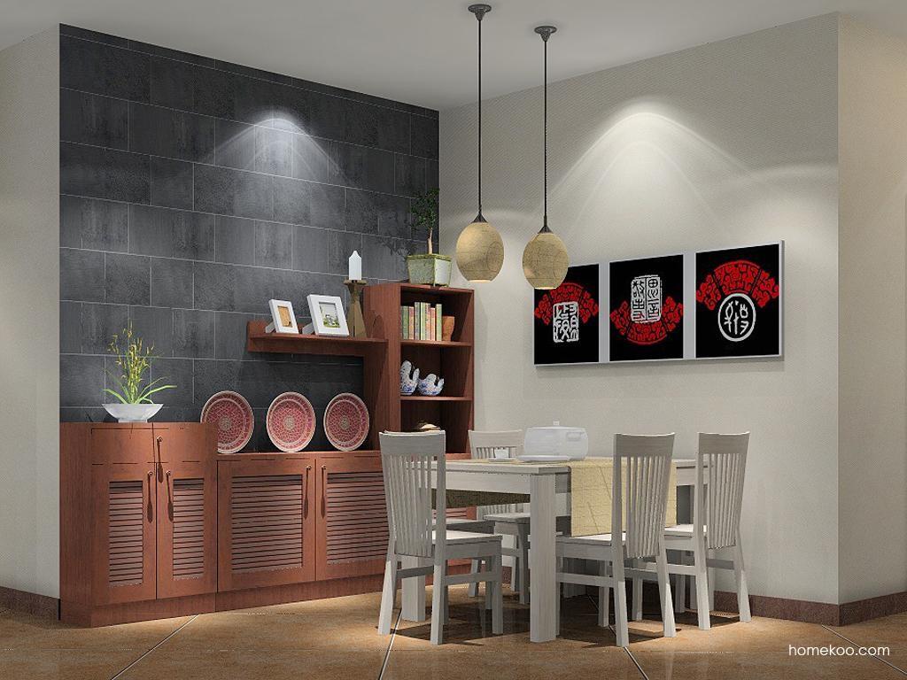 新中式主义餐厅家具E1143
