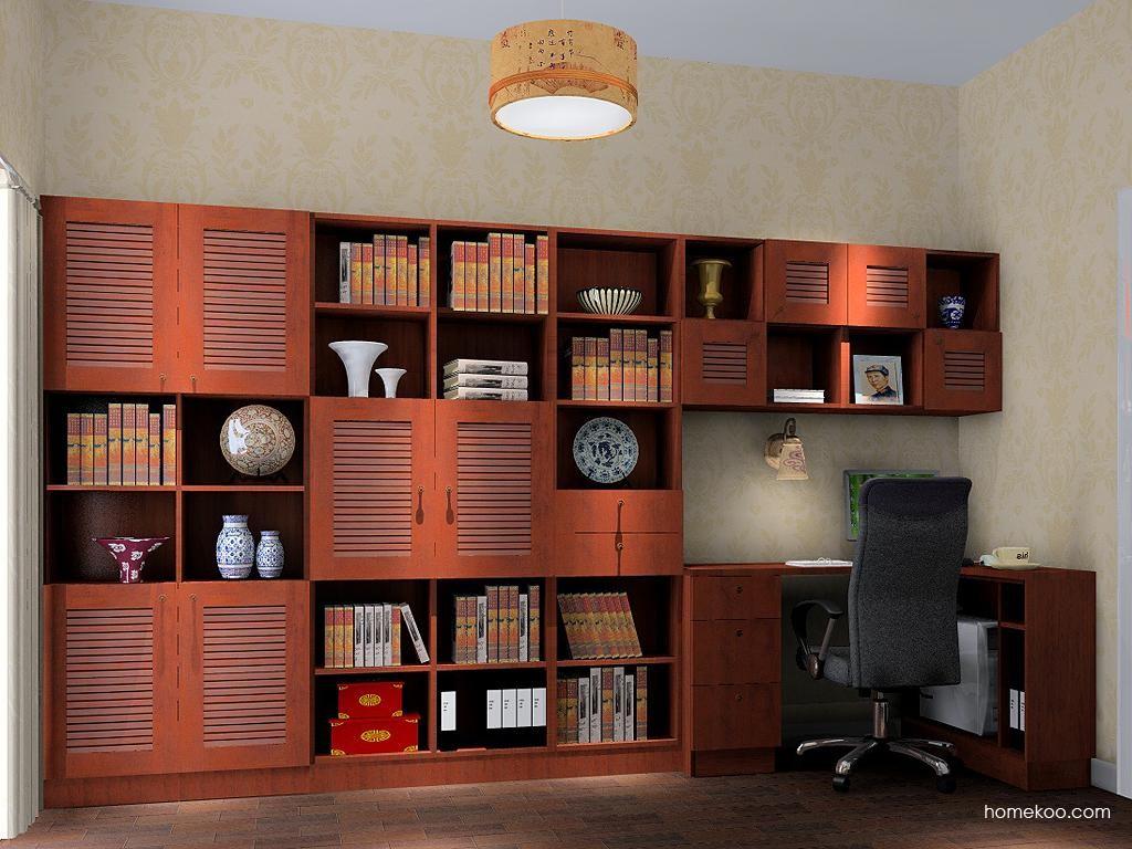 新中式主义书房家具C3849