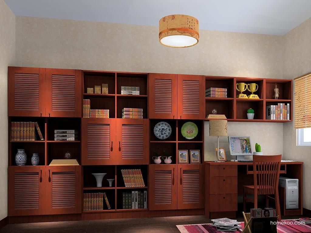 新中式主义书房家具C3888
