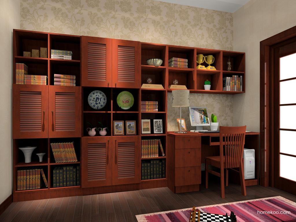 新中式主义书房家具C3996