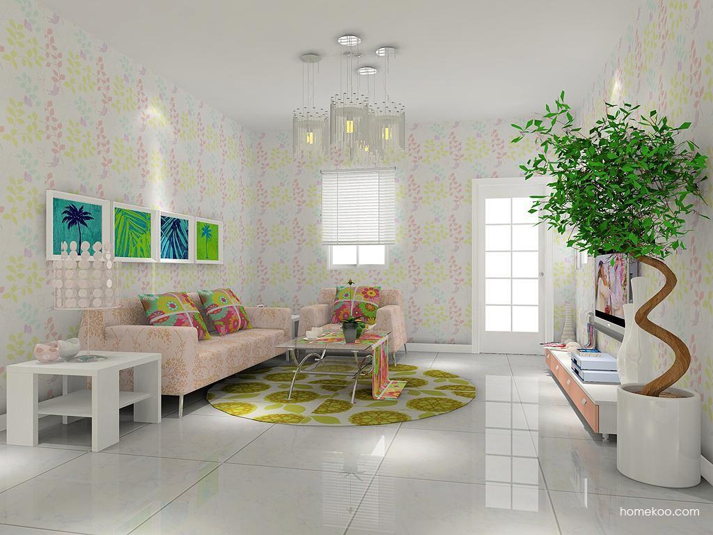 浪漫主义客厅家具D7428