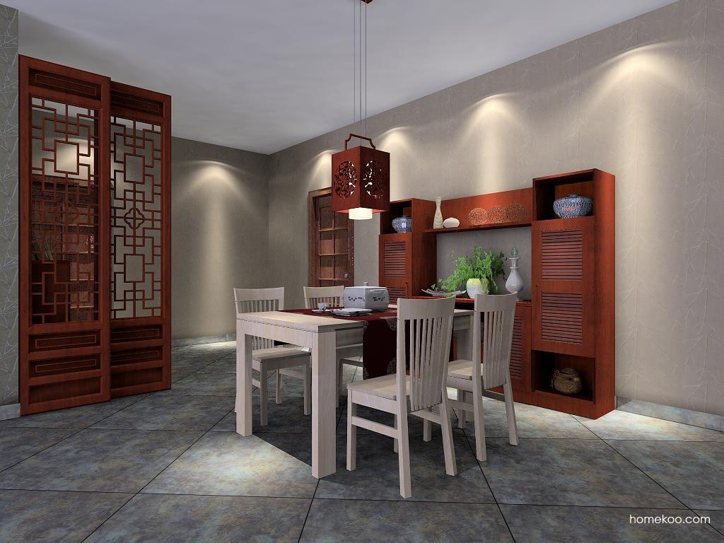 新中式主义餐厅家具E2254