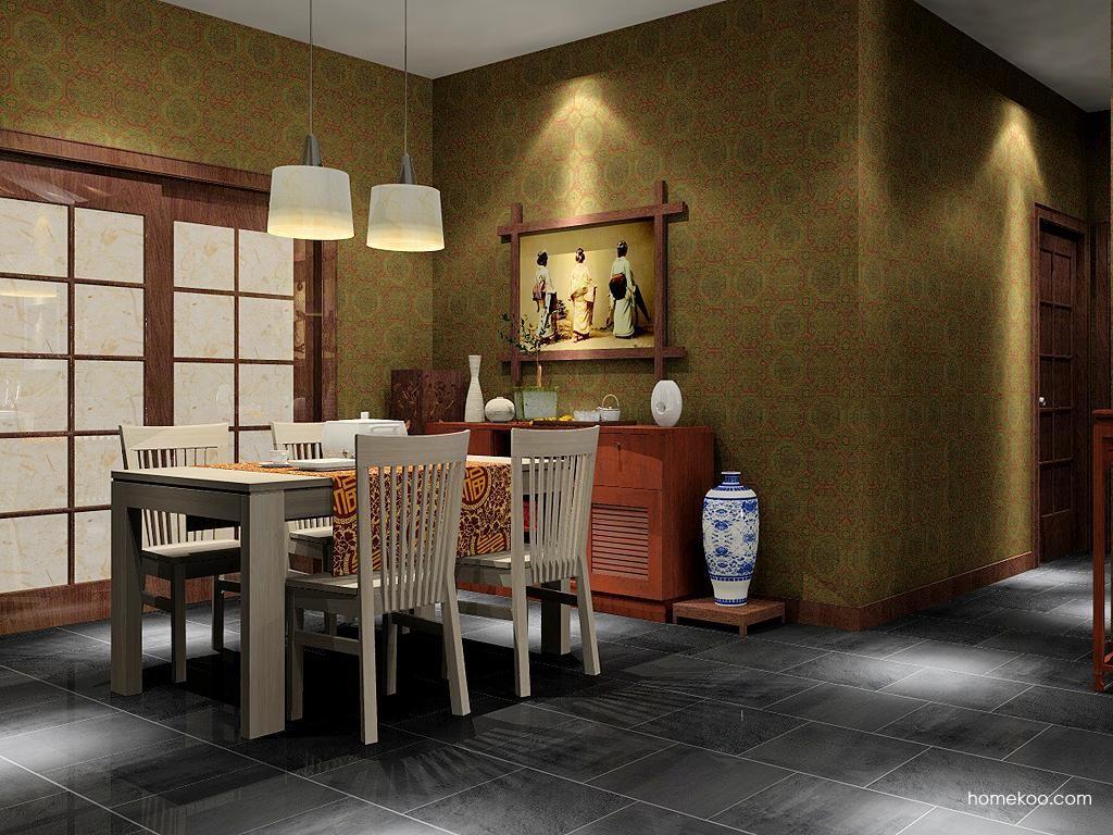 新中式主义餐厅家具E2111