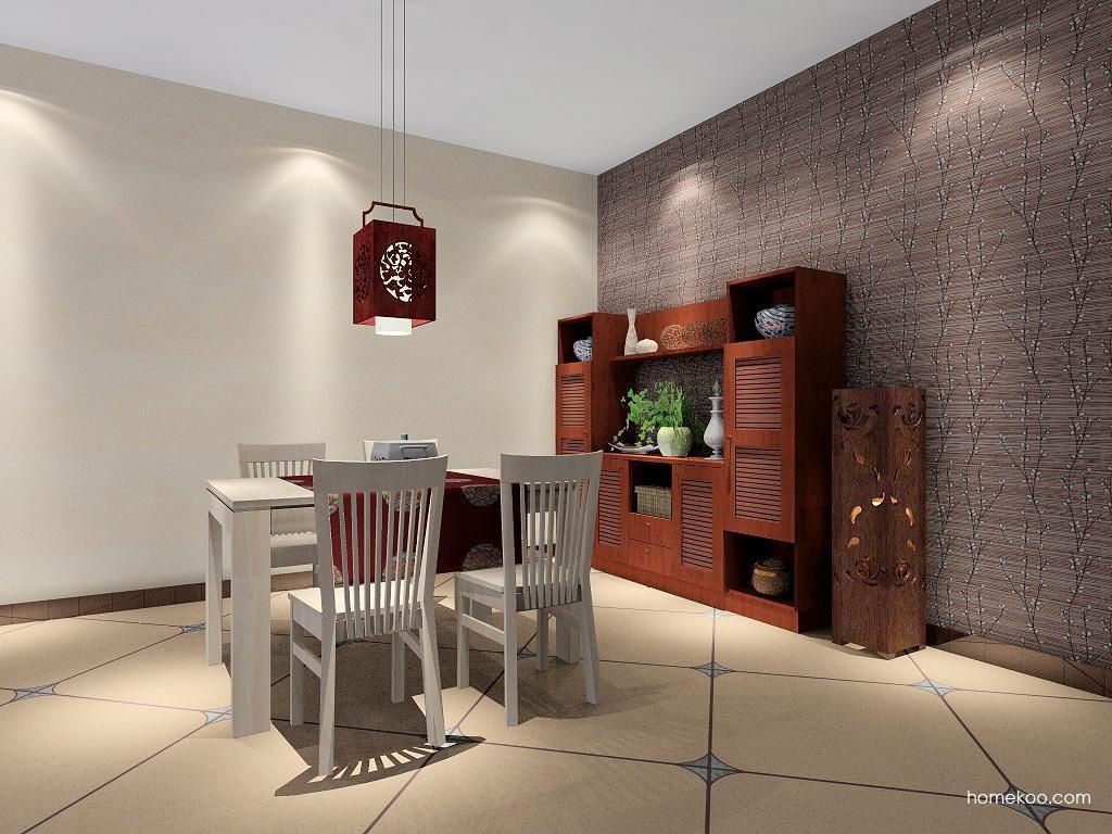 新中式主义餐厅家具E2139