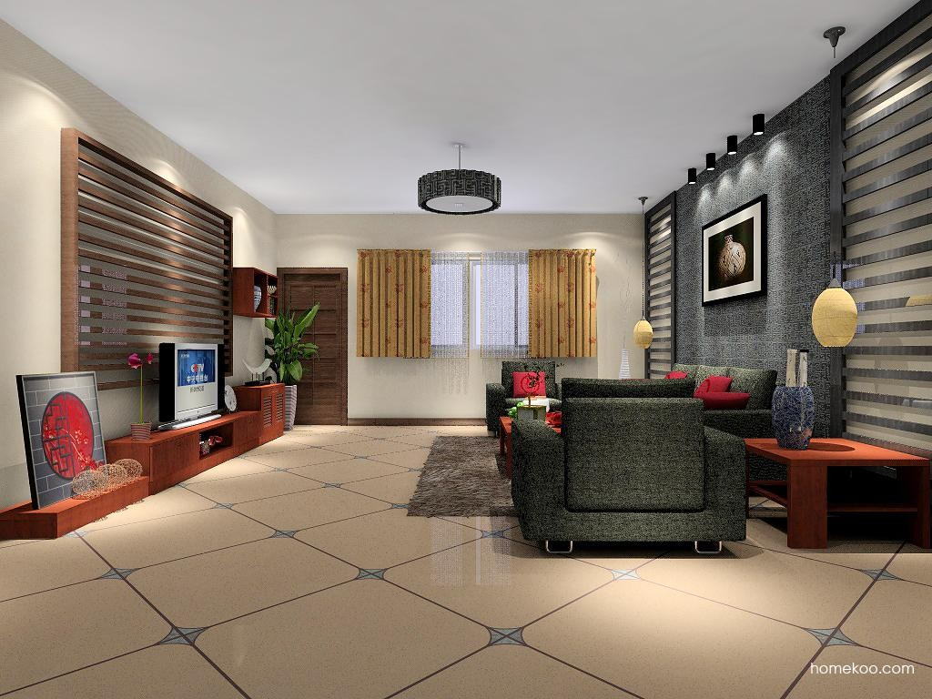 新中式主义客厅家具D7334