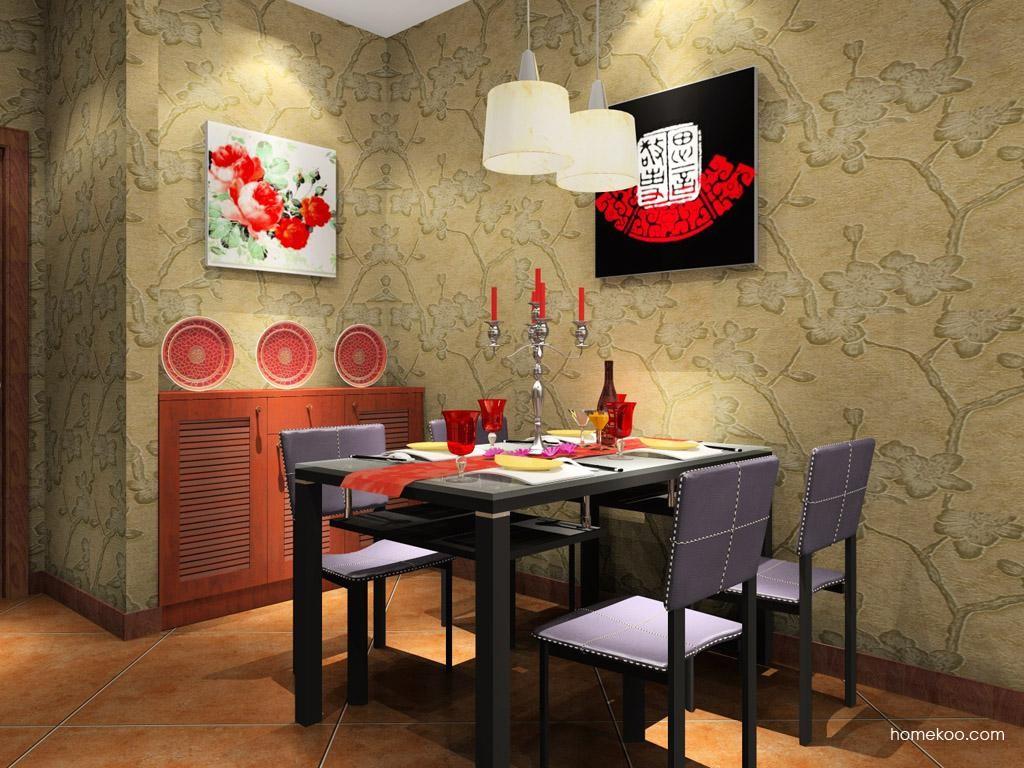 新中式主义餐厅家具E7589