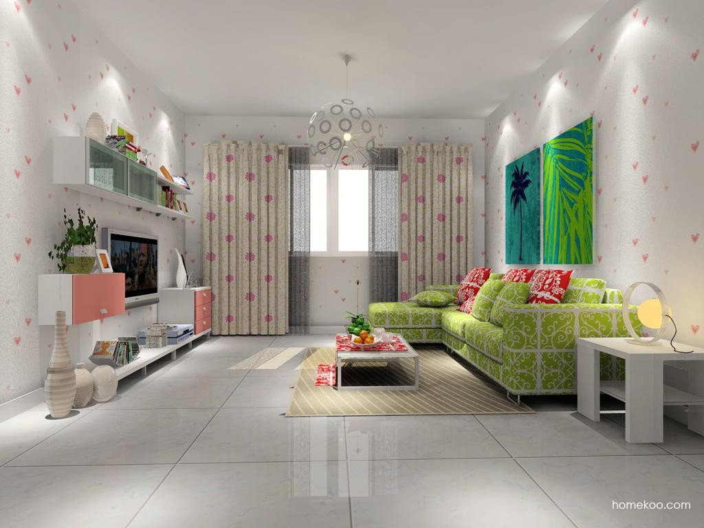 浪漫主义客厅家具D7667