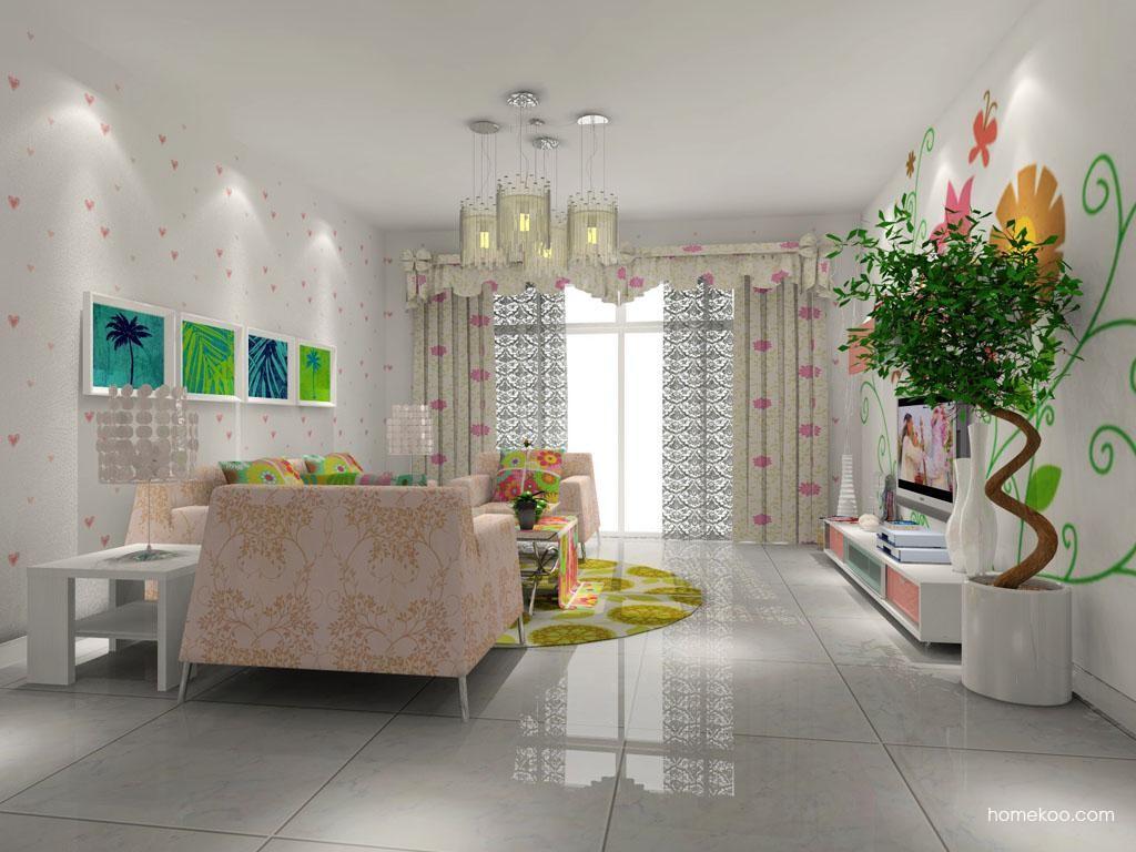 浪漫主义客厅家具D7722