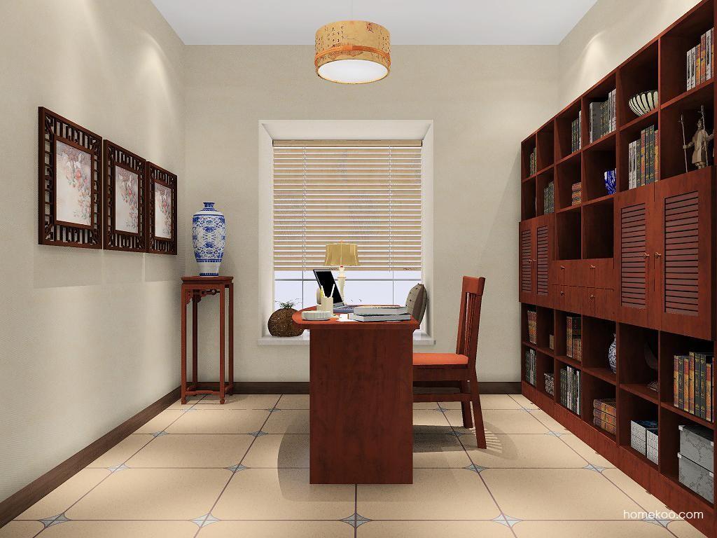 新中式主义书房家具C7950