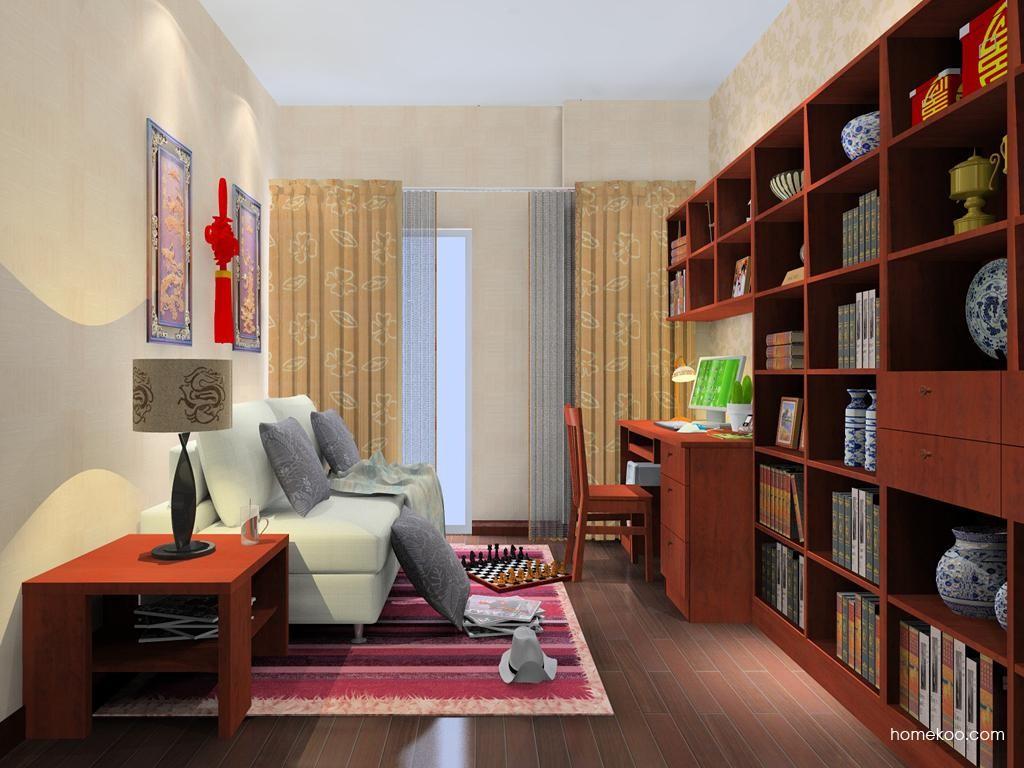 新中式主义书房家具C8111