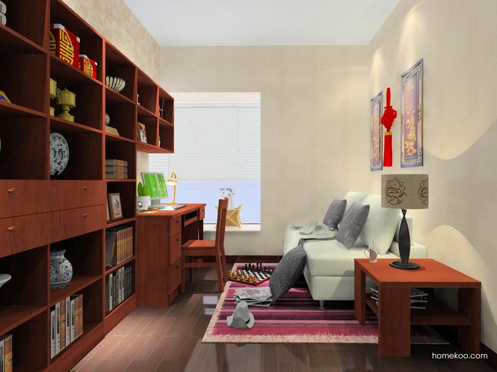 新中式主义书房家具C8122