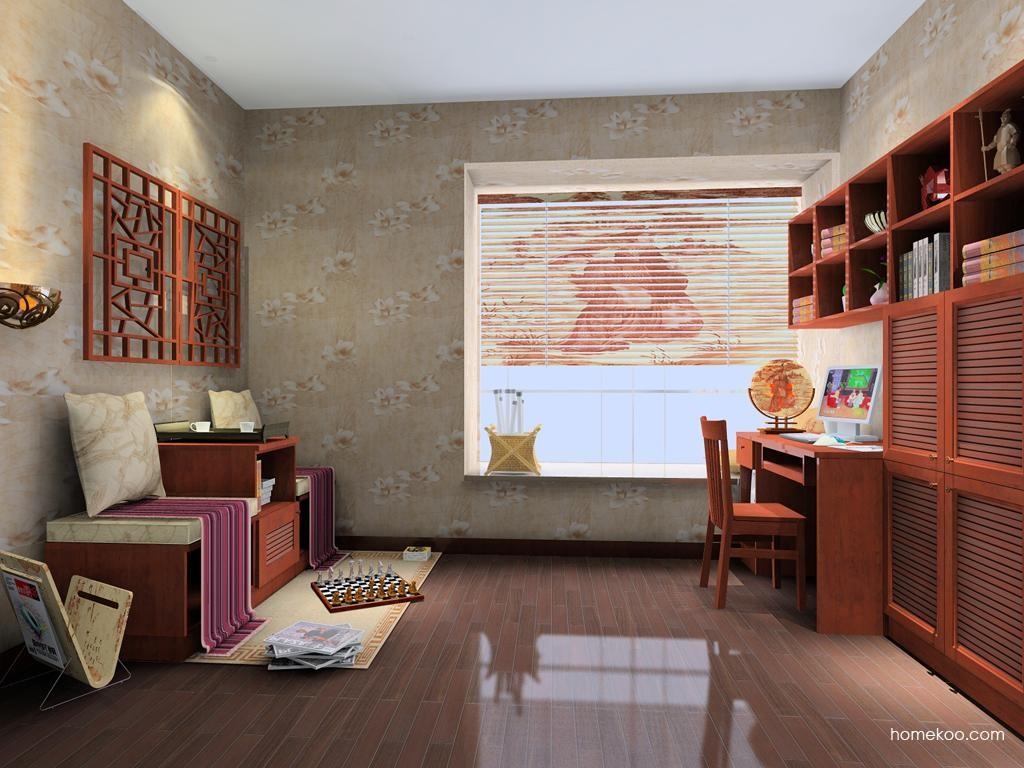 新中式主义书房家具C8161