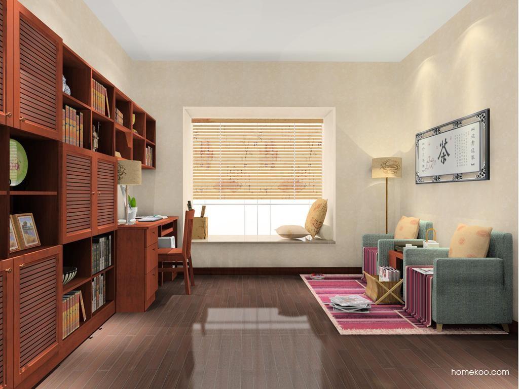 新中式主义书房家具C8179