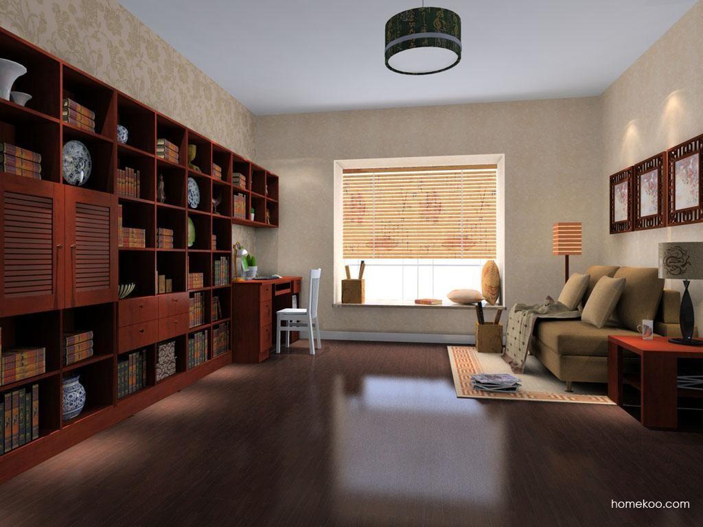 新中式主义书房家具C8195