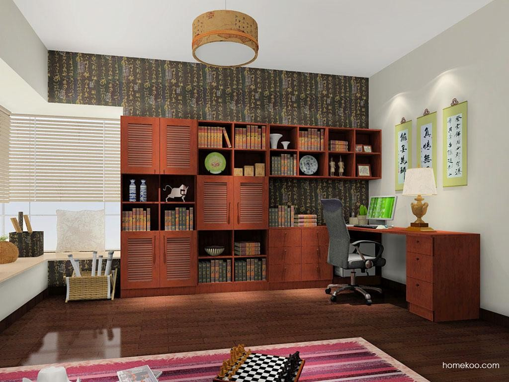 新中式主义书房家具C8294