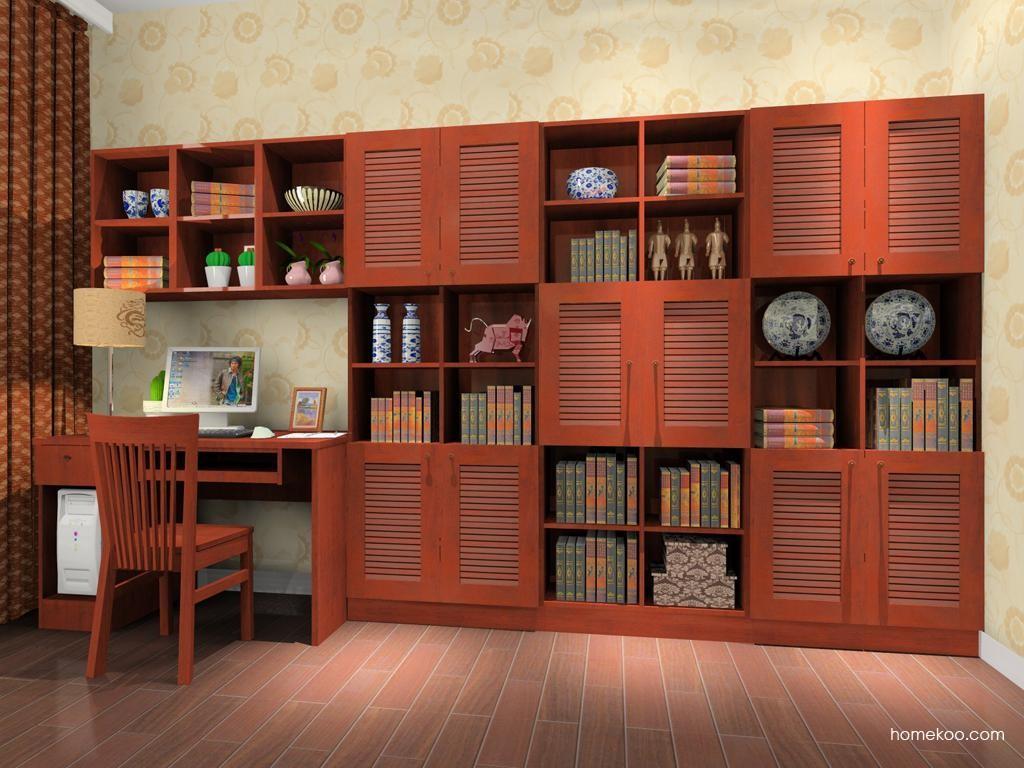 新中式主义书房家具C8356