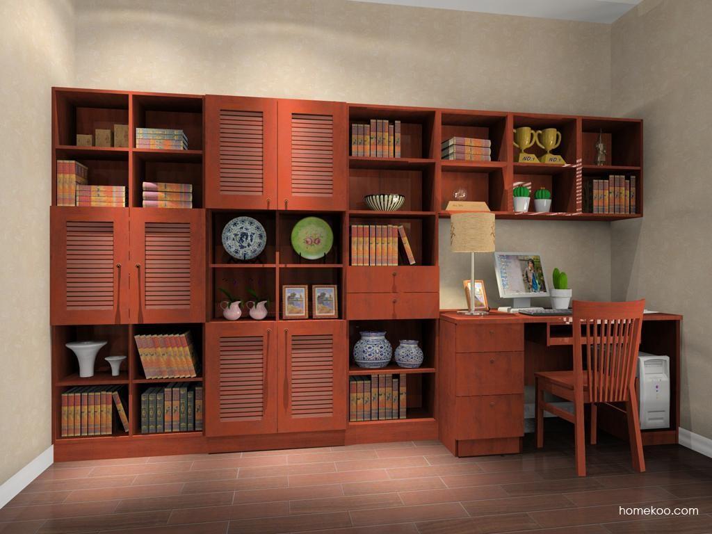 新中式主义书房家具C8355