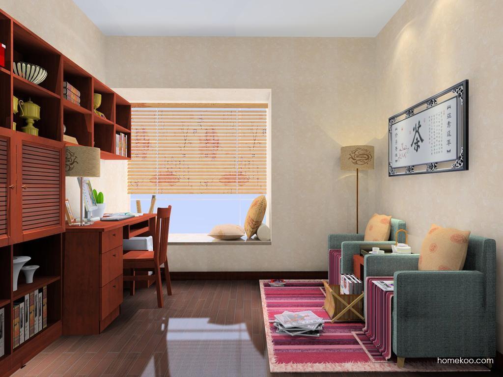 新中式主义书房家具C8384