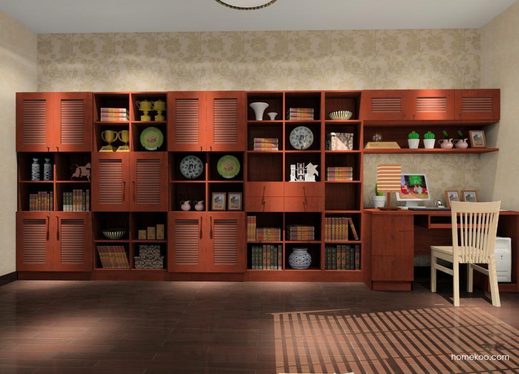 新中式主义书房家具C8440