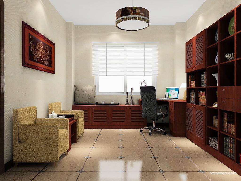 新中式主义书房家具C8516