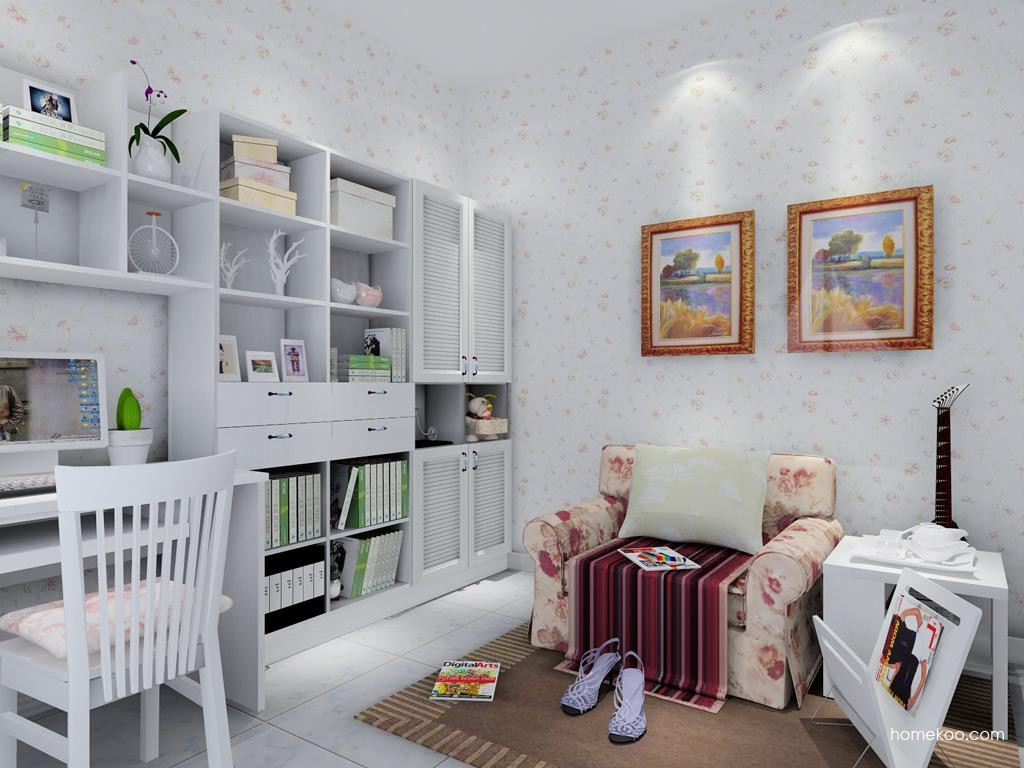 韩式田园书房家具C8941