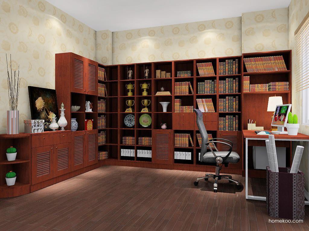 新中式主义书房家具C9014