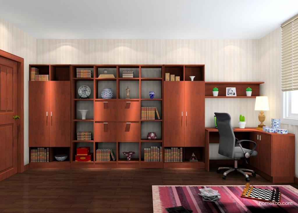 新中式主义书房家具C9021