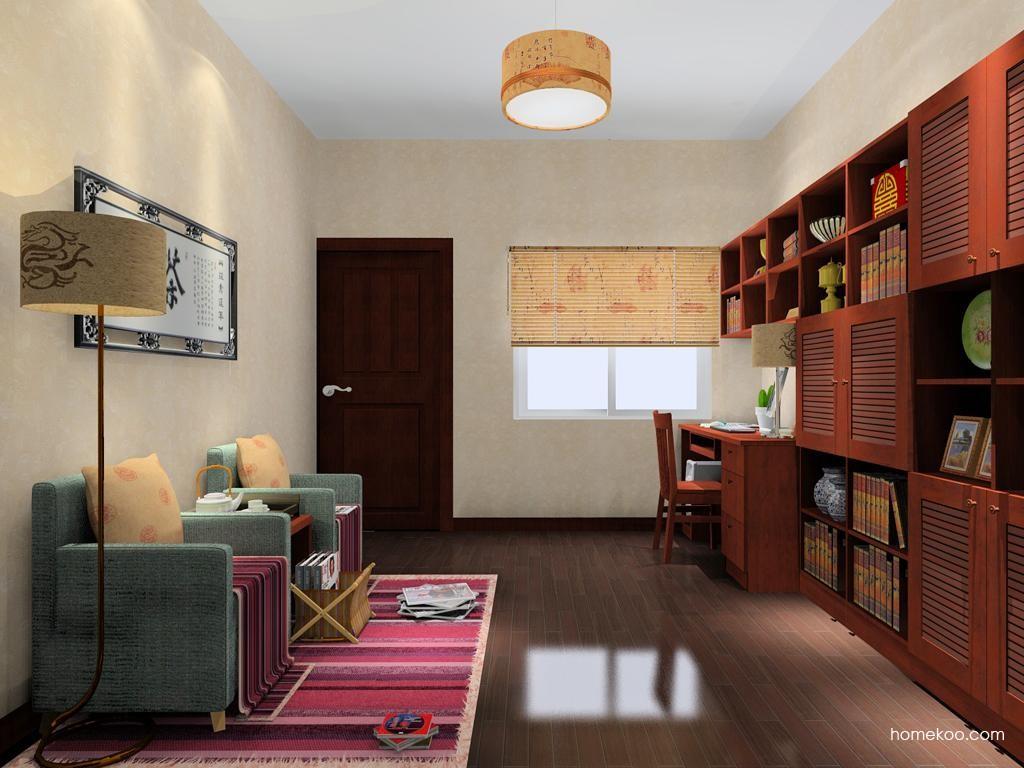 新中式主义书房家具C9036