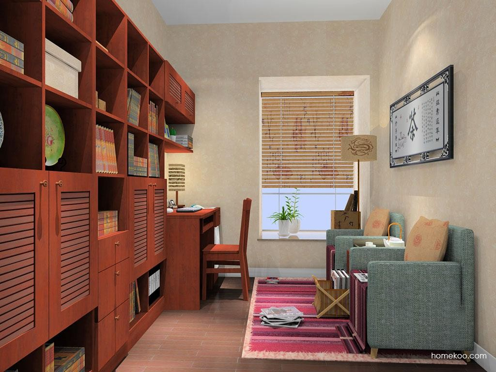 新中式主义书房家具C9176