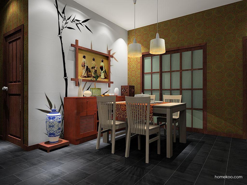 新中式主义餐厅家具E8002